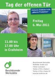 Info-Flyer zum Tag der offenen Tür (.pdf) - Beschützende Werkstätte ...