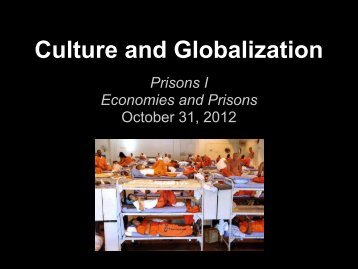 US Prison Facts - Culture and Globalization