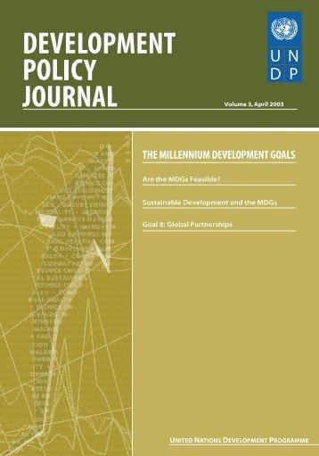 Tool 3: Millennium Development Goals - iwrm
