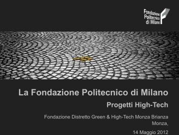 Fondazione Politecnico - Distretto Green and High Tech Monza ...