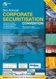 corporate securitisation - Euromoney Institutional Investor PLC