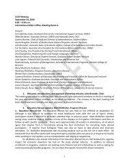 UCIA Meeting September 24, 2009 8:00 – 9:30 a.m. International ...