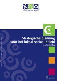Strategische planning voor het lokaal sociaal beleid - Vlaanderen.be