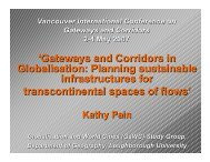 'Gateways and Corridors in Globalisation: Planning sustainable ...
