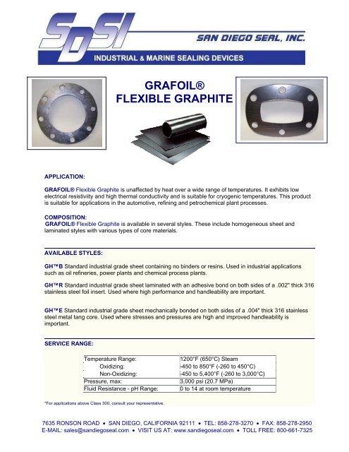 GRAFOIL® Flexible Graphite - San Diego Seal, Inc