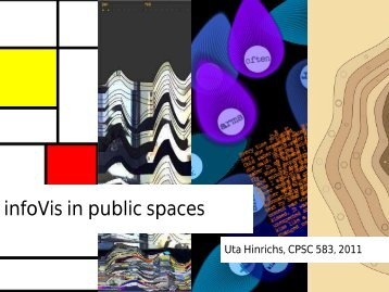 infoVis in public spaces - InnoVis - University of Calgary