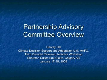 Partnership Advisory Committee Overview - Drought Research ...