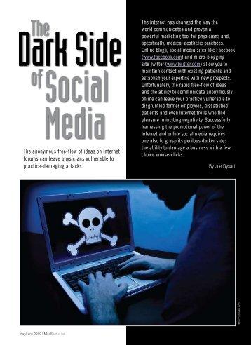 The Dark Side of Social Media - MedEsthetics