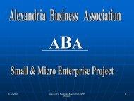 Alexandria Business Association - Small & Micro Enterprise Project.pdf