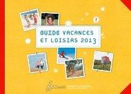vacances et loisirs 2013 - Fondation Jean Moulin