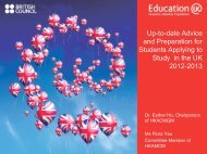 Up-to-date Advice and Preparation for Students ... - Education UK