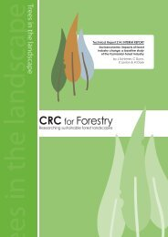 Socioeconomic impacts of forest industry change - CRC for Forestry