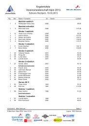 Ergebnisliste Vereinsmeisterschaft Alpin 2013