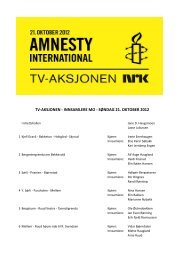 Rodeliste TVaksjonen 2012 - Nord-Odal Kommune