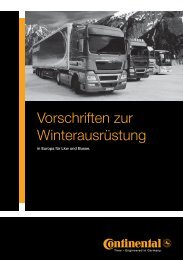 Vorschriften zur Winterausrüstung (in Europa für Lkw und