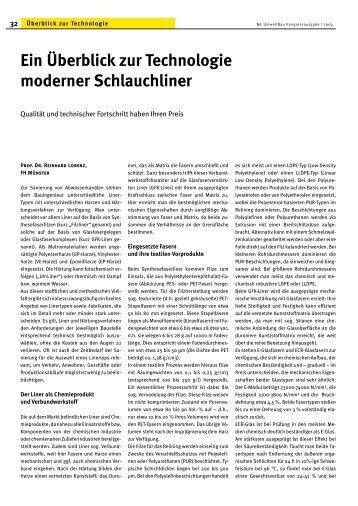 Ein Überblick zur Technologie moderner Schlauchliner