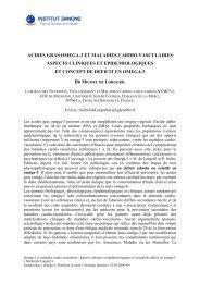 ACIDES GRAS OMEGA-3 ET MALADIES CARDIO ... - Danone Institute
