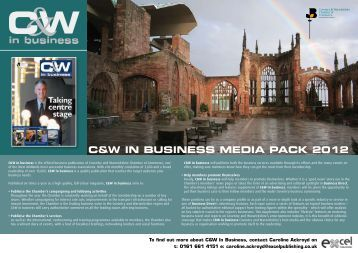C&W IN BUSINESS MEdIa PaCk 2012 - Coventry & Warwickshire ...