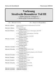Vorlesung Strafrecht Besonderer Teil III - Heinrich