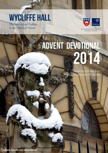 Wycliffe Hall Advent Devotional 2014(1)