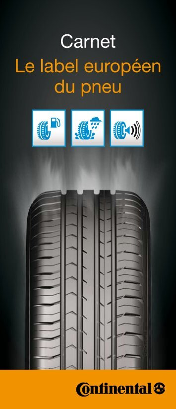 Carnet Le label européen du pneu