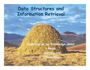 Data Structures and Information Retrieval - schmiedecke.info