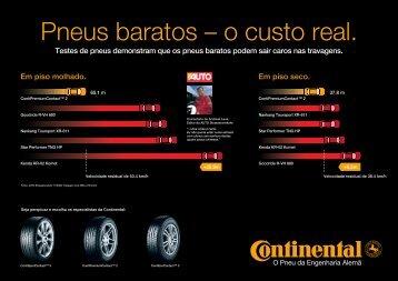 Testes de pneus demonstram que os pneus baratos podem sair ...