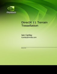 DirectX 11 Terrain Tessellation - NVIDIA Developer Zone