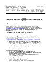 """Protokoll Des Workshop """"Informationen der Fachambulanz für ..."""