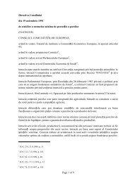 Directiva Consiliului din 19 noiembrie 1991 de stabilire a ... - anarz