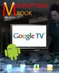 MVDIT TECH BOOK - May 2010