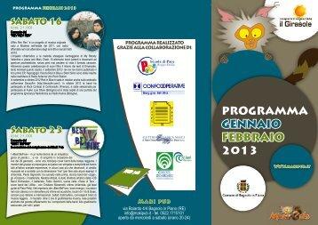 PROGRAMMA GENNAIO FEBBRAIO 2013 - Reggio Emilia