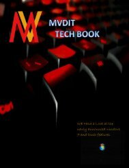 MVDIT TECH BOOK: SPECIAL EDITION