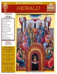 June 2012 - Saint Sophia Greek Orthodox Cathedral