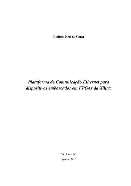 Plataforma de Comunicaç ˜ao Ethernet para dispositivos
