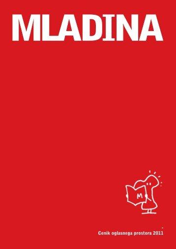 Cenik oglasov založbe Mladina 2009 Cenik oglasnega prostora 2011