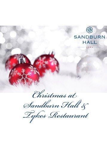 Click here to view our Christmas Menu 2013 - Sandburn Hall