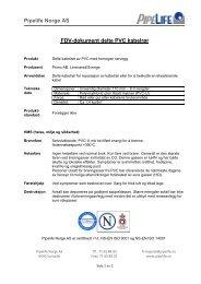 Pipelife Norge AS FDV-dokument delte PVC kabelrør - Atea