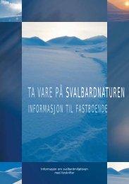 Ta vare på Svalbard - Sysselmannen