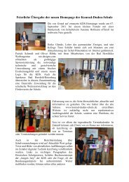 Feierliche Übergabe der neuen Homepage der Konrad-Duden-Schule