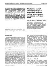 What's in a name? Electrophysiological differences ... - Cogprints