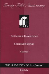 The College of Communication & Information Sciences: A ... - TCF