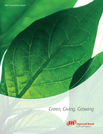 2007 Sustainability Report - Ingersoll Rand