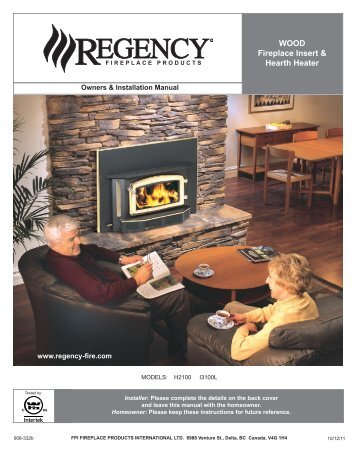 Wood fireplace insert & Hearth Heater - Regency Fireplace Products