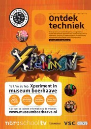 Download hier de flyer - Museum Boerhaave