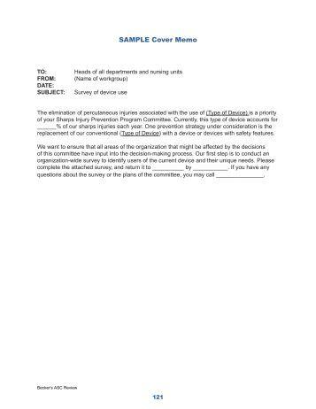 Barklay 39 s sample good memo for Becker study plan