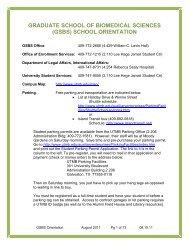 ALL SCHOOL ORIENTATION - GSBS Home