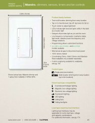 Maestro® dimmers, sensors, timers and fan controls - Lutron