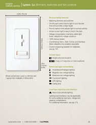 Lyneo® Lx dimmers, switches and fan controls - Lutron