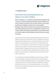 Kostenlose Online-Banking-Software von Steganos ab sofort ...